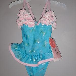 NWT Floatimini Unicorn Swimsuit Toddler Girls NEW